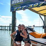 Girls ready to Fly-N-High on jet ski