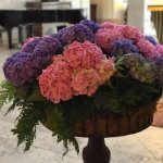 The lobby was filled with colorful hydrangea which took my breath away!
