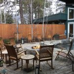 Outdoor patio and firepit