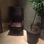 Great location for an OSIM massage chair while waiting for the loo