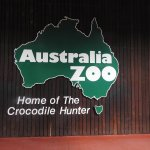 The front of the zoo