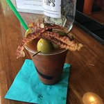 Bacon Bloody Mary from bar