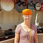 The staff insisted I try their turban on