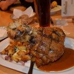 The knusprige Schweinshaxe (broiled pork knuckle)