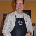 """Sydney House B&B host Alasdair Matheson """"presenting breakfast."""" (And absolutely delicious it was"""