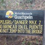 Suspension bridge to the hot springs