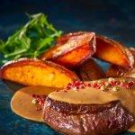 Solomillo a la Pimienta - Pippuripihvi - Pepper steak, tenderloin steak with creamy pepper sauce