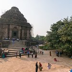 Wide angle view of temple