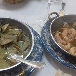 palourdes marinières et gambas ail&persil