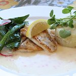 Närfiskad gös med potatisstomp!