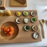 You mix all the condiments into the carrot tartare. It was fun!