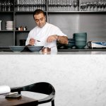 Chef Sid in the main dining room at Sidart