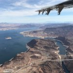 View of the mighty Hoover Dam and Lake Mead.