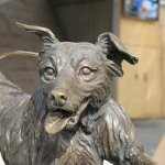 front view dog statue