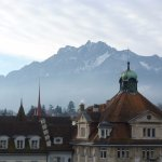 View of Mount Pilatus from the room.
