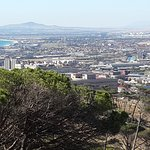 Atlantic ocean and Tygerberg Hill in the background