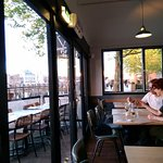 Gourmet Pizza Co (Gabriel's Wharf) - Great views from Window facing seats.