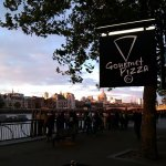 Gourmet Pizza Co (Gabriel's Wharf) - perfect view for sunset on St. Paul's