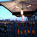 Gourmet Pizza Co (Gabriel's Wharf) - Summer terrace at dusk.