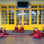 A session with the Monks