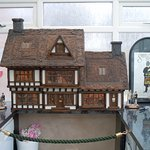 Our Sherlock Holmes themed dolls house in the conservatory