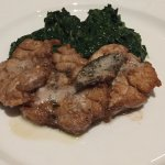 Veal sweetbreads with buttered spinach