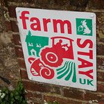 Farm stay sign.
