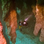 Stalactites in the Blue Hole