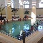 indoor pool 93F / 34 °C