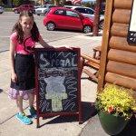 Delicious coffees and Wilcoxson's Ice Cream plus Miss Billie's Banana Bread!
