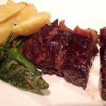 Lomo de carne roja compartido