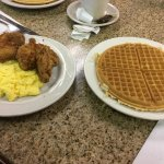 Chicken & Waffles - the Chicken was tasty, eggs were cooked well, was too full to finish the waf