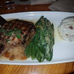 Bone-in Pork Chop with Honey Apple Chutney, Garlicky Green Beans and Garlic Mashed Potatoes