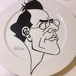 Gustav Mahler dinner plate by Joseph Blecha