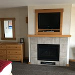 Fireplace and TV - Room 310