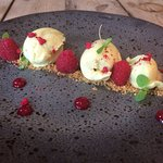 The White Choc & Tarragon Mousse was heavenly...