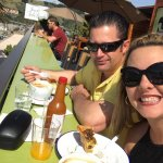 This is us having morning breakfast on the rooftop deck they serve it from 7 to 11