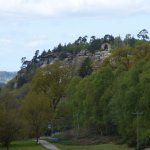 Look closely at the hill and you'll see some of the follies amongst the trees