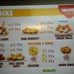 BK menu