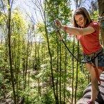 5 parcours accrobranche avec des niveaux différents pour une expréience perchée dans les arbres