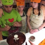 making the chocolate...yummy!