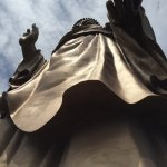 look up at the statue from the foot area