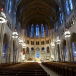 Beautiful interior of Riverside Church.