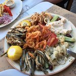 The fish platter for 4 people- great value for money