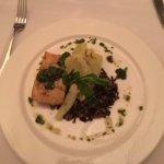 Fresh grilled halibut