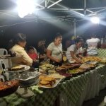 Streetfood market in Flores