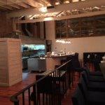 Open kitchen at the Whitehouse Crawford Restaurant