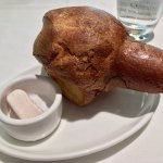 Complimentary popover with strawberry butter