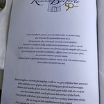 Ristorante Belforte menu page