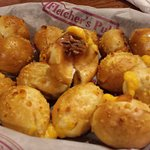 Pretzel bits stuffed with cheese